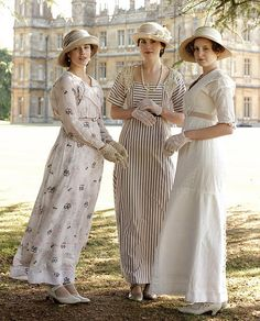 The most stylish gowns on Downton Abbey belong to Sybil, Mary, and Edith.