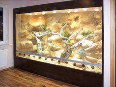 290 cm long desert terrarium as built-in wall unit - Animals Bearded Dragon Vivarium, Bearded Dragon Enclosure, Bearded Dragon Terrarium, Les Reptiles, Cute Reptiles, Reptiles And Amphibians, Terrarium Serpent, Terrarium Reptile, Reptile Room