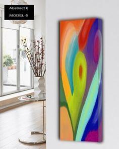 Abstract-6 design radiatoren Verticale design verwarming met multicolor 12 verschillende abstracte oppervlakte. 897 tot 3370 watt