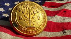 CIVIL WAR Confederate South Carolina Coat Size Button   eBay