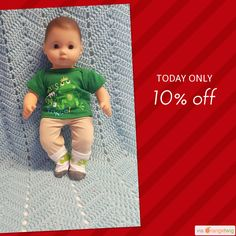 """Today Only! 10% OFF this item.  Follow us on Pinterest to be the first to see our exciting Daily Deals. Today's Product: Baby Doll Clothes to fit 15 inch baby doll BOY """"Frog Prince"""" will fit Bitty Baby playset top socks pants N13 Buy now: https://small.bz/AAeaRpC #etsy #etsyseller #etsyshop #etsylove #etsyfinds #etsygifts #musthave #loveit #instacool #shop #shopping #onlineshopping #instashop #instagood #instafollow #photooftheday #picoftheday #love #OTstores #smallbiz #sale #dailydeal…"""