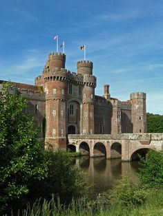 Herstmonceux Castle is a brick-built castle near Herstmonceux, East Sussex, England.