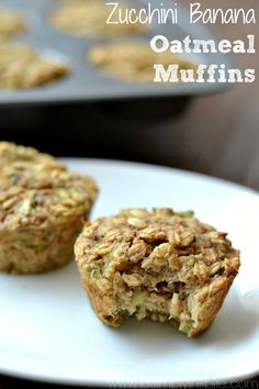 These Zucchini Banana Oatmeal Muffins are an incredible, healthy breakfast or snack option. Made with no refined sugar, oil or flour, they are wonderfully moist and perfect for on the go.