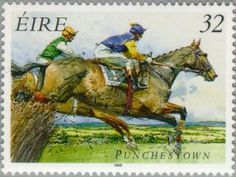 irish horse stamps | Stamp: Horse racing (Ireland) (Horse racing) Mi:IE 936A