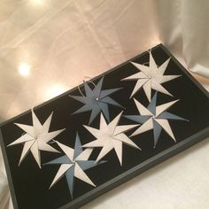 Origami star ornaments set of 6