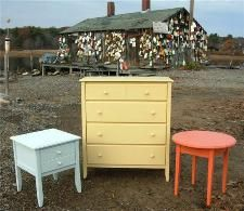 beach cottage painted furniture
