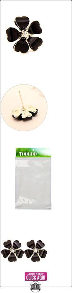 Pendientes - TOOGOO(R)Pendientes de perno prisionero de oreja de estras de cristal de flor para mujer negro  ✿ Joyas para mujer - Las mejores ofertas ✿ ▬► Ver oferta: https://comprar.io/goto/B01BD8NDU6