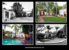 Eight months before her death (December 1961) Marilyn discovered a Spanish-style house at Fifth Helena Drive in the Brentwood section of Los Angeles. She traveled to Mexico in February 1962, enthusiastically searching shops in Cuernavaca, Taxco, Toluca and Acapulco for fabrics, furniture and tiles for her new home.