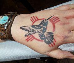 Hummingbird tattoo, Native American, Tribal