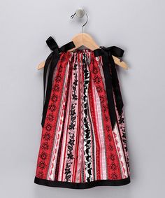 Pillow Case dress, transforms from dress to tunic, to tank or skirt.Seen on Shark Tank .gotta get for my Mac-a-doodle -dandy Make Do And Mend, How To Make, How To Wear, Red Black, Black And White, Shark Tank, Stripe Dress, 4 Kids, Infant Toddler