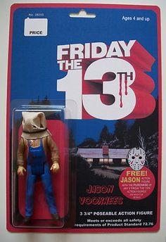 Custom 3 3/4 Friday the 13th Hooded Jason Voorhees vintage style figure MOC #horror #f13