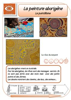 La peinture aborigène: le pointillisme Didgeridoo, Aboriginal Symbols, Aboriginal Dot Art, Art Activities For Kids, Art For Kids, Art Montessori, Art Du Monde, Ecole Art, Arts Ed