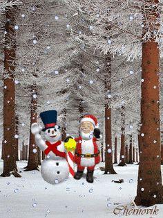 Дед мороз и снеговик - анимация на телефон от chernovik №1291097
