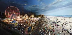 Coney Island (Day to Night) by Stephen Wilkes