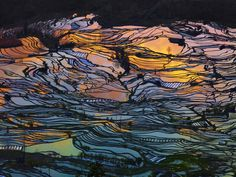 Breathtaking landscape photos by Thierry Bornier highlight the beauty of China's rice field terraces. #China #landscape #photography