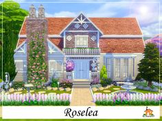 Roselea is a family home built on a 30 x 20 lot. Found in TSR Category 'Sims 4 Residential Lots'