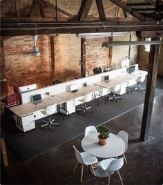 There's something about industrial offices that I love. Being within that environment just calls for productivity and would be an amazing place to work, whether that be from home or in the offices....