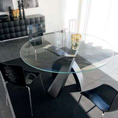 Modern Sense Furniture 🥇 Luxury Furniture For Any Space Expandable Round Dining Table, Round Extendable Dining Table, Dining Table Design, Modern Dining Table, Dining Room Table, Glass Kitchen Tables, Round Table Top, Oval Table, Circular Table