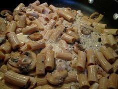 Creamy Portobello Pasta - The Fit Cook - Healthy Recipes - Skinny Recipes