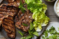 Grilled Sichuan Cumin Lamb Chops with Quick Pickled Cucumbers / Tara Donne