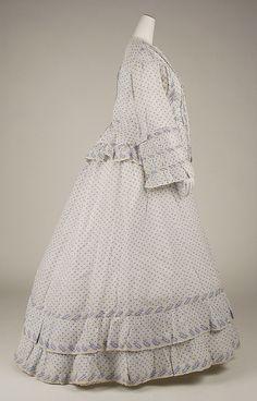 Dress, Morning  Date: ca. 1860 Culture: American Medium: cotton