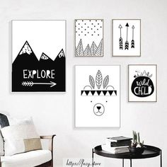 and white canvas art Explore Child Wall Art Canvas Painting Nordic Posters And Prints Black White Nursery Name Wall Decor, Kids Wall Decor, Art Wall Kids, Nursery Decor, Kids Room Art, Playroom Decor, Girl Nursery, Girls Bedroom, Master Bedroom