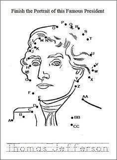 President Thomas Jefferson Biography and coloring picture