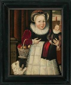Portrait of a century 3 year old child, unknown artist - The Fries Museum 16th Century Clothing, Doll Painting, Renaissance Art, Middle Ages, Antique Dolls, Beautiful Dolls, Oeuvre D'art, Girl Dolls, Folk Art