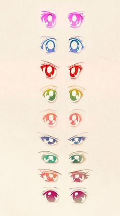 Sailor Moon character eyes :-) I remember drawing these everywhere since the 4th grade!