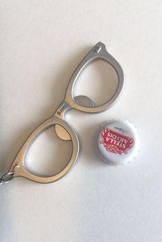 glasses bottle opener, beer gift, beer opener keychain, unique bottle opener, si