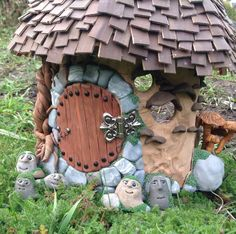 Rock trolls gnome for miniature fairy garden by Beneaththeferns