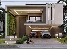 Minimal House Design, Modern Small House Design, Modern Exterior House Designs, Modern House Facades, Modern Villa Design, Bungalow House Design, Modern Architecture House, Exterior Design, House Outside Design