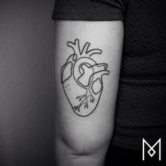 continuous line anatomical heart tattoo on the_4_ink «Pinned Tattoos ...