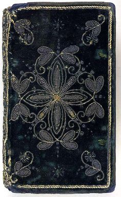 For the love of Books...17th century embroidered velvet Book, London, 1620, The British Library, photo by Aria Nadii via Flickr.