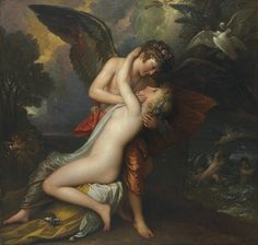 Cupid and Psyche, by Benjamin West, oil on canvas, 1808