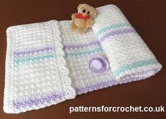 Free cochet pattern for stroller cover http://patternsforcrochet.co.uk/pram-cover-usa.html #crochet #patternsforcrochet