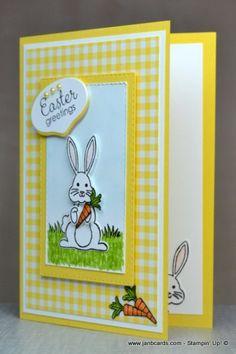 JanB Cards - Page 2 of 356 - Independent Stampin' Up! Demonstrator Jan Brown - JanB Cards – Page 2 of 356 – Independent Stampin' Up! Demonstrator Jan Brown JanB Cards – P - Diy Easter Cards, Easter Crafts, Handmade Easter Cards, Scrapbooking, Scrapbook Cards, Stamping Up Cards, Kids Cards, Homemade Cards, Easter Bunny