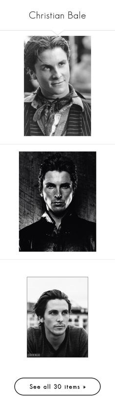 """""""Christian Bale"""" by morningstar1399 ❤ liked on Polyvore featuring christian bale, people, actors, faces, ad campaign, pictures, editorials, batman, men and celebs"""