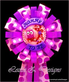 Purple Owl Mommy to Be Baby Shower Corsage Daddy por LezlieZDesigns