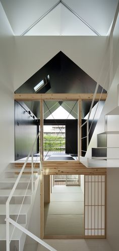 Kikukawa Residential is a minimalist house located in Tokyo, Japan, designed by SALHAUS. The three-floor building is situated within a narrow plot alongside apartment condos. (3)
