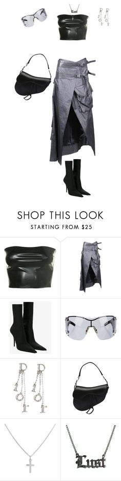 """Vixen on the moon"" by looksbydes ❤ liked on Polyvore featuring Christian Dior, Balenciaga, Sterling Essentials and Hoolala"