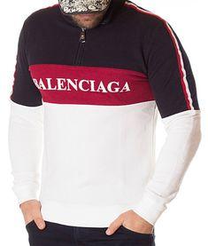 Balenciaga Bluza Zipped BB - Alba | Bluze | Bluze | Brande Balenciaga, Bb, Gucci, Sweatshirts, Model, Sweaters, Fashion, Moda, Sweater