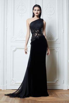 The Glamorous Velvet Black Dress I Zuhair Murad Fall Winter 2013 #Fashion #fall2013 #Trend
