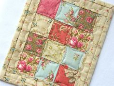 Custom Order for Melissa - Miniature Quilt 'Chloe'. $28.00, via Etsy.