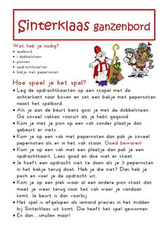 Onderwijs en zo voort ........: 1819. Sinterklaas spelletjes : Sinterklaas Ganzenbord Family Games, Games For Kids, Diy For Kids, Father Christmas, Kids Christmas, Stage, Speech Language Therapy, Lets Do It, What To Make