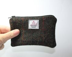 Coin purse change purse Harris Tweed by Enchantingcrafts on Etsy, £8.00
