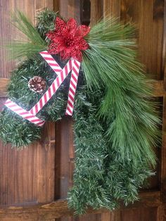 Candy Cane Christmas Horse Wreath! Love it!!