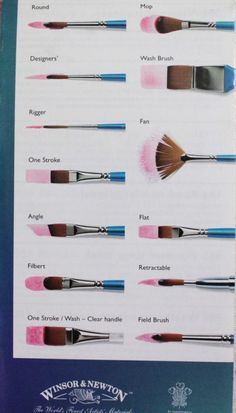 brush types #brushes #brushtype