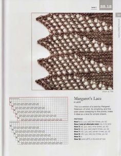 Old knitting patterns – knitting charts Lace Knitting Stitches, Knitting Paterns, Knitting Charts, Crochet Motif, Crochet Shawl, Crochet Yarn, Lace Patterns, Stitch Patterns, Sewing Basics