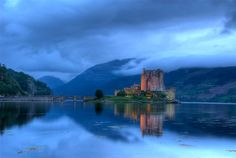 Castle of Eileen Donan in the Scottish highlands.